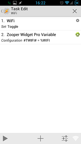 Zooper WiFi Toggle Task