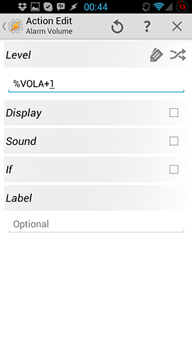 Alarm Volume Variable