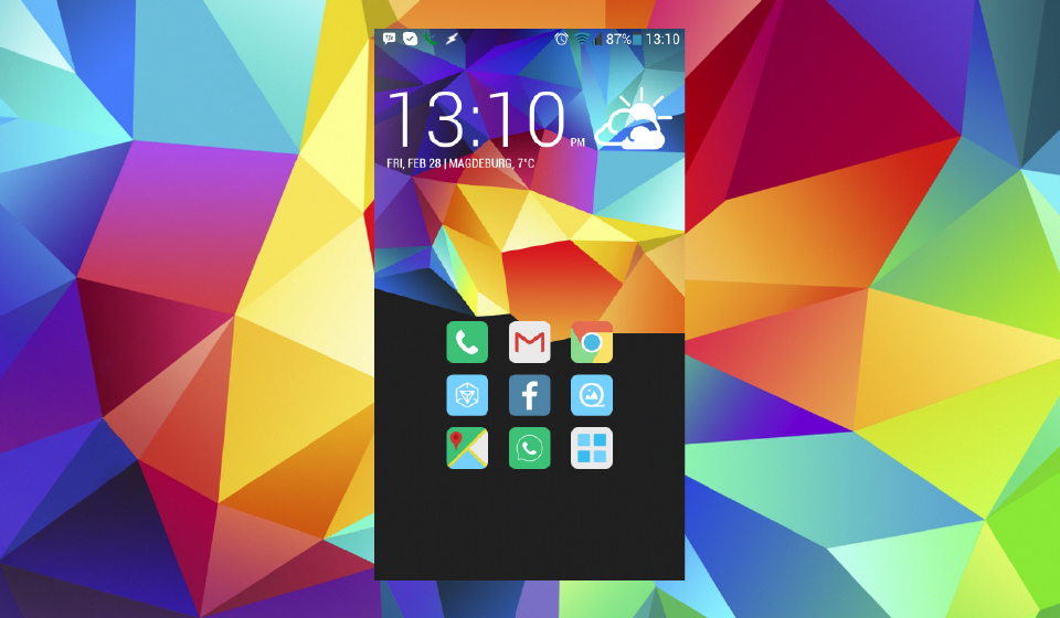 Homescreen One Galaxy S5