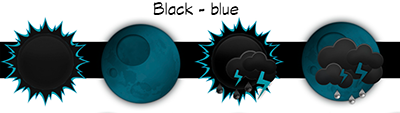 Black Blue Weather Iconset