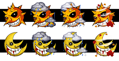 Soul Eater Weather Icons