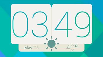 Zooper Flat HTC Clock