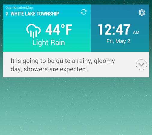 Zooper LG G3 Weather