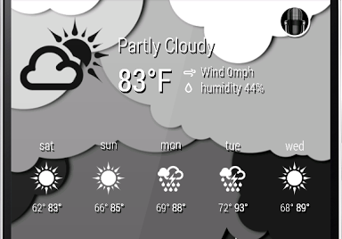 Zooper 1Weather Black Iconset