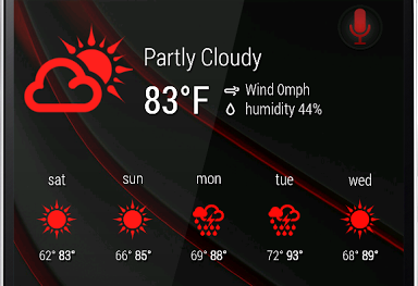 Zooper 1Weather Red Iconset