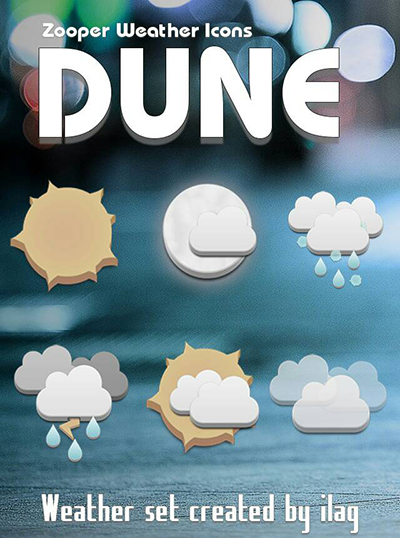 Zooper Dune Weather Iconset