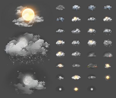 Zooper Xperia Weather Iconset