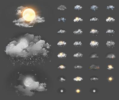 Zooper Xperia Weather Iconset