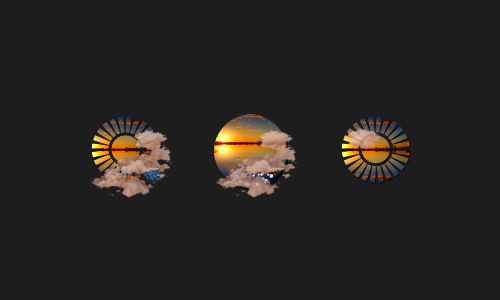 Zooper Another Sunset Weather Iconset