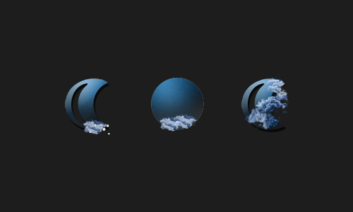 Zooper Blue Moon Weather Iconset