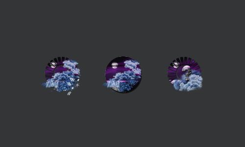 Zooper Purple Sky Weather Iconset