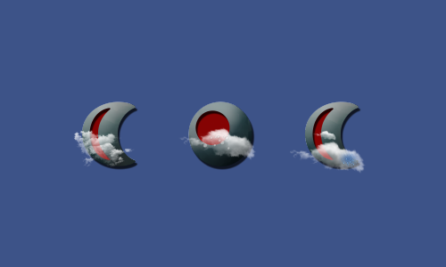Zooper Red Inset Weather Iconset