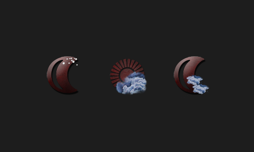 Zooper Red Leather Weather Iconset