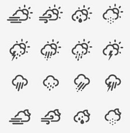Clean Weather Icon Font