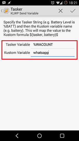 Tasker Kustom Variable