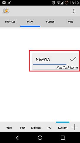 Kustom Tasker Name Task