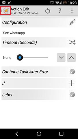 Tasker Kustom KLWP Configuration
