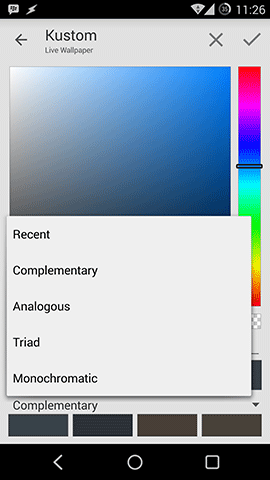 Kustom Color Menu