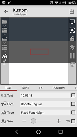 Kustom Text Options