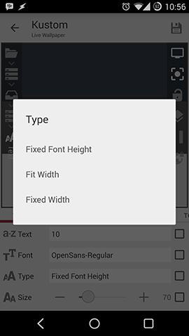 Kustom Text Size Tye