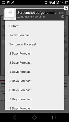 Kustom Weather Settings
