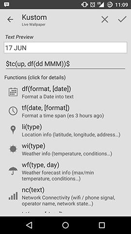 Kustom 2 Inside Functions