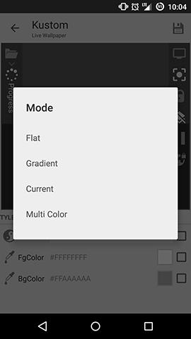 Kustom Color Mode